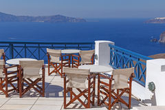 Balcony on Santorini Stock Image