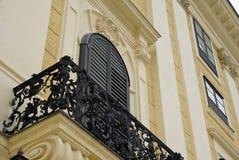 Balcony at Schonbrunn Stock Image