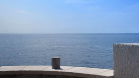The balcony, the sea in the background stock footage