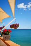 Balcony with sea view Stock Image