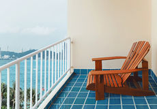 Balcony seaview Stock Photography