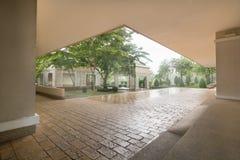 Garden House. Balcony side corridor of the building Royalty Free Stock Photos