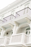 Balcony of the sino colonial building Stock Photography