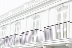 Balcony of the sino colonial building Royalty Free Stock Photos