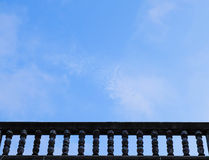 Balcony and sky Stock Images
