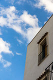 Balcony and sky. A House's balcony and the sky with some clouds Royalty Free Stock Photo