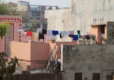 Balcony in some poor district of Delhi Royalty Free Stock Photography