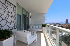 Balcony South Beach Royalty Free Stock Photos