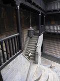 Balcony and stairs. Courtyard of the medieval castle royalty free stock photos