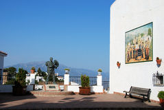 Balcony with statue, Comares. Royalty Free Stock Images