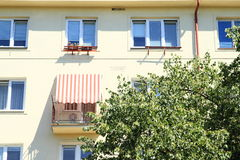 Balcony with sunshade Stock Image