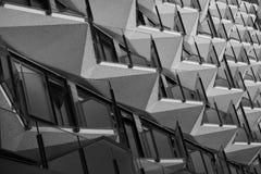 Balcony symmetrie of Middelkerke, Belgium stock image