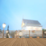 Balcony And Terrace Of Blur Exterior Background. Balcony And Terrace Of The Blur Exterior Background Stock Photos