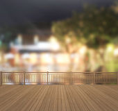 Balcony And Terrace Of Blur Exterior Background. Balcony And Terrace Of The Blur Exterior Background Stock Photo