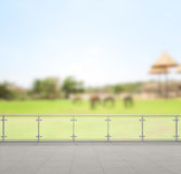 Balcony And Terrace Of Blur Nature Background. Balcony And Terrace Of The Blur Nature Background Stock Photos