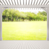 Balcony And Terrace Of Blur Nature Background. Balcony And Terrace Of The Blur Nature Background royalty free stock image