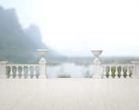 Balcony And Terrace Of Blur Nature Background. Balcony And Terrace Of The Blur Nature Background stock photography