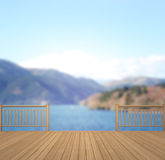 Balcony And Terrace Of Blur Nature Background. Balcony And Terrace Of The Blur Nature Background royalty free stock photography