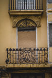 Balcony, tipical architecture of the Spanish city of Valencia Royalty Free Stock Photography