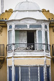 Balcony, tipical architecture of the Spanish city of Valencia Stock Photos