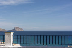 Balcony to the Mediterranean sea in Altea, Spain Royalty Free Stock Images