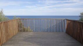 Balcony to the sea Royalty Free Stock Photos