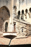 Balcony in a tower of the  Palace of the Popes Royalty Free Stock Images