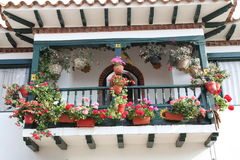 Balcony. A traditional balcony in bogota Stock Images
