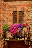 Balcony in Tuscany Stock Photos