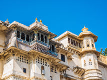 Balcony of Udaipur City Palace Royalty Free Stock Photos