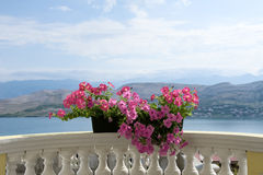 Balcony with vacation atmosphere Royalty Free Stock Images