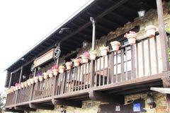 Balcony vases Royalty Free Stock Photos