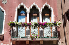 Balcony in Venice Royalty Free Stock Photos