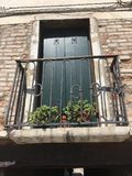 A balcony in Venice - Venetian architecture Stock Images