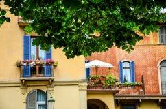 Balcony in Verona Stock Photo