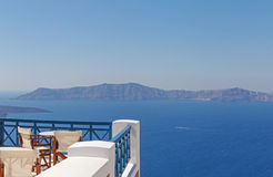 Balcony with view on caldera Royalty Free Stock Photo