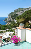 Balcony view, Capri, Italy Stock Photography
