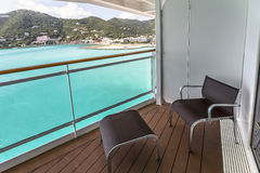 Balcony view on cruise ship Royalty Free Stock Images
