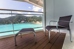Balcony view on cruise ship Stock Images