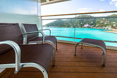 Balcony view on cruise ship Stock Photography