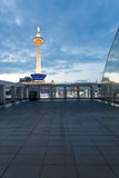 Balcony View Kyoto Tower Dusk Blue Hour Evening Royalty Free Stock Photos