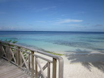 Balcony view of the Ocean. Dream holiday villa overlooking the ocean Stock Images