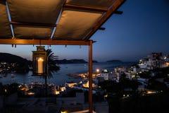 Balcony view in Ponza by Night stock photo