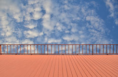 Balcony view of sky Stock Images