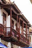 Balcony view in Cartagena royalty free stock images