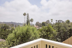 Balcony views in San Diego. Outdoors in Southern California homes ready for real estate listings Royalty Free Stock Photo