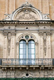 Balcony and window in Mannerist style High Renaissance at the Grand Master`s Palace, Valletta. Malta Royalty Free Stock Image