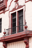Balcony window and pink wall Royalty Free Stock Photos