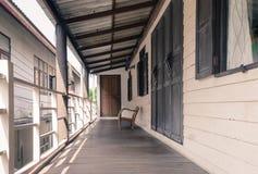 Balcony wood floor Royalty Free Stock Image