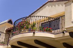 Balcony XXL. Luxury House Balcony and flowers Royalty Free Stock Photos